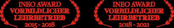 Ineo-Award - Vorbildlicher Lehrbetrieb 2015 - 2021